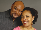 Photo of a man and woman smiling. Link to Life Stage Gift Planner Under Age 60 Gifts.