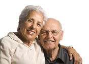 Photo of a man and woman smiling. Link to Life Stage Gift Planner Over Age 70 Situations.